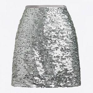 J. Crew Sequin Mini Skirt